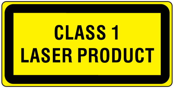 Class 1 laser product label
